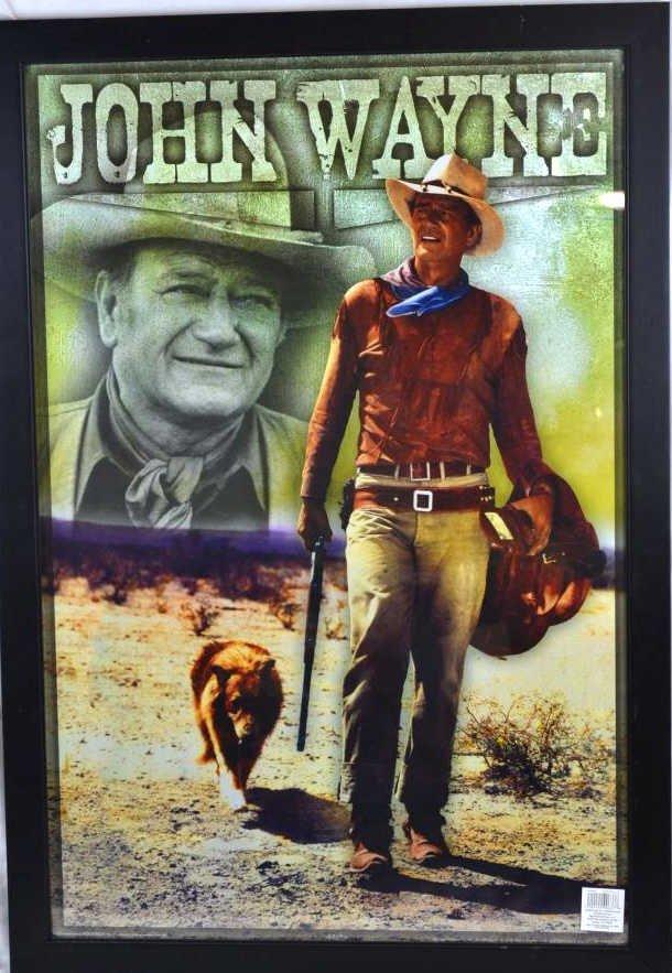 Large John Wayne Framed Poster, 1978 LARGE John Wayne