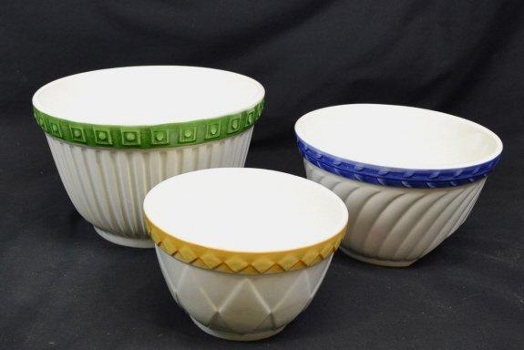 3 CIC - Italy Ceramic Nesting Mixing Bowls 3 CIC - - 2
