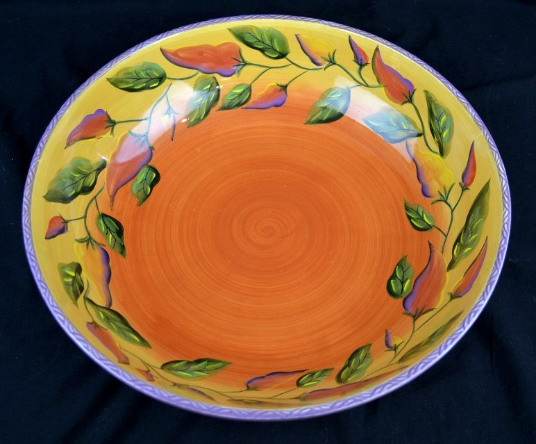 StoneLite Clay Art Chili Fiesta Bowl StoneLite Clay Art