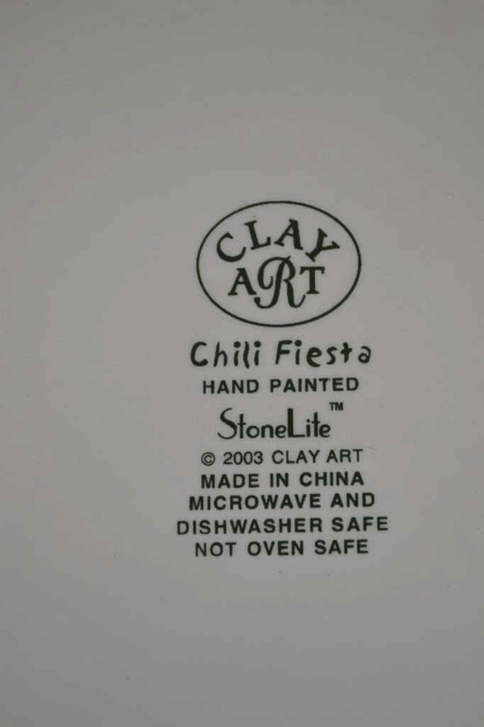 StoneLite Clay Art Chili Fiesta Bowl StoneLite Clay Art - 2