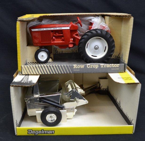 Degelman Rock Picker, Row Crop Model Tractor Toys