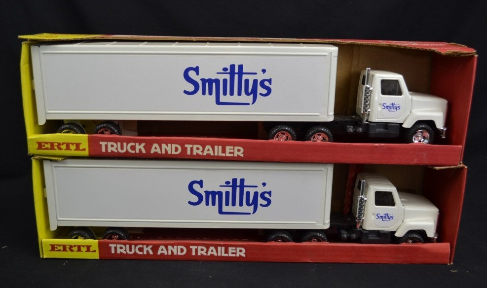 2 Ertl Smitty's Toy Truck & Trailers 2 Ertl Smitty's