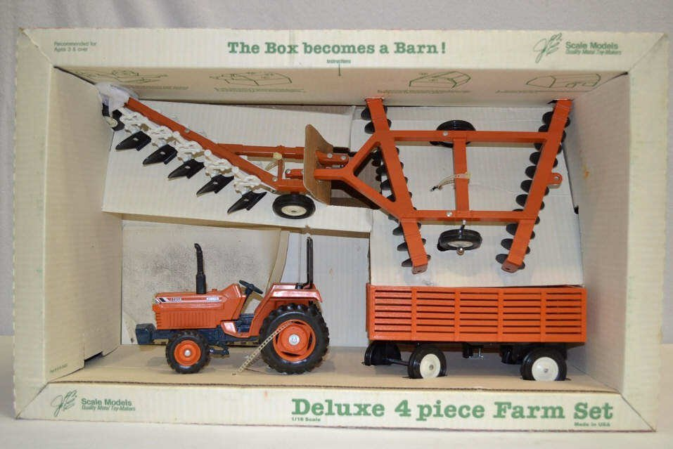 New Deluxe 4-Piece Toy Farm Set New Deluxe 4-Piece Toy