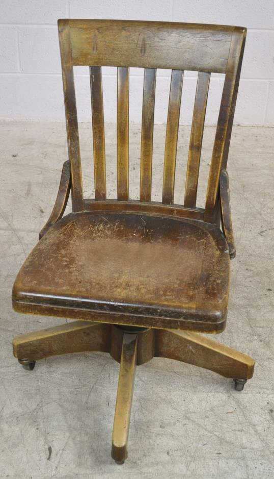 Vintage Rolling Office Chair by B.L. Marble Chair
