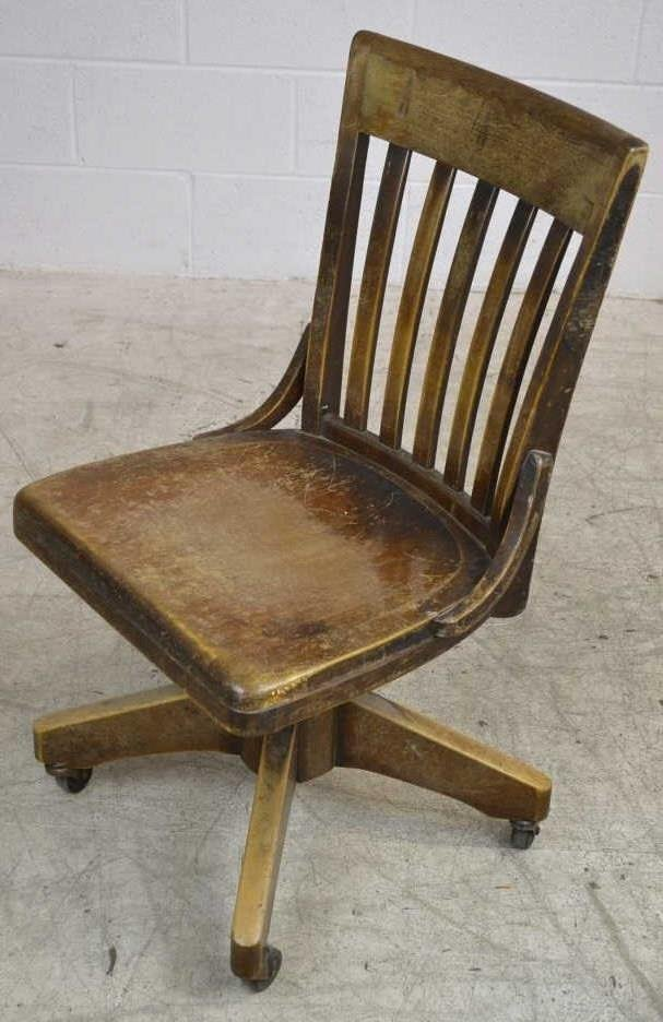 Vintage Rolling Office Chair by B.L. Marble Chair - 2