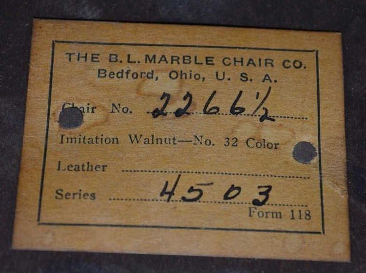 Vintage Rolling Office Chair by B.L. Marble Chair - 3