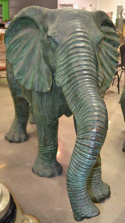 Large Bronze Cow Elephant Statue