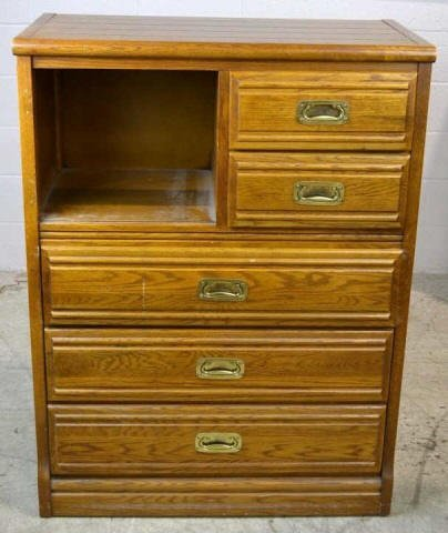 Young-Hinkle Outrigger 5 Drawer High Boy Dresser