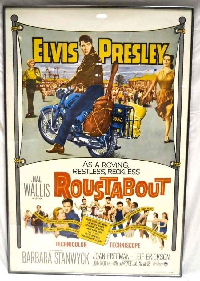 "Elvis Presley ""Roustabout"" Movie Poster Original"