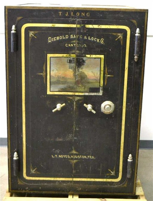 Antique Diebold Safe & Lock Co  Double Door Safe