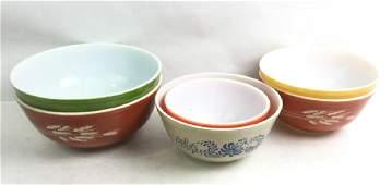 (6) Pyrex Mixing Bowls