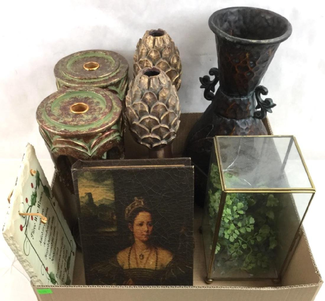 Home Decor, Candlesticks, Fake Book Box