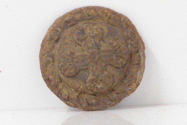 "Civil War Dug Relics - Rosette with ""Maryland Cross"""