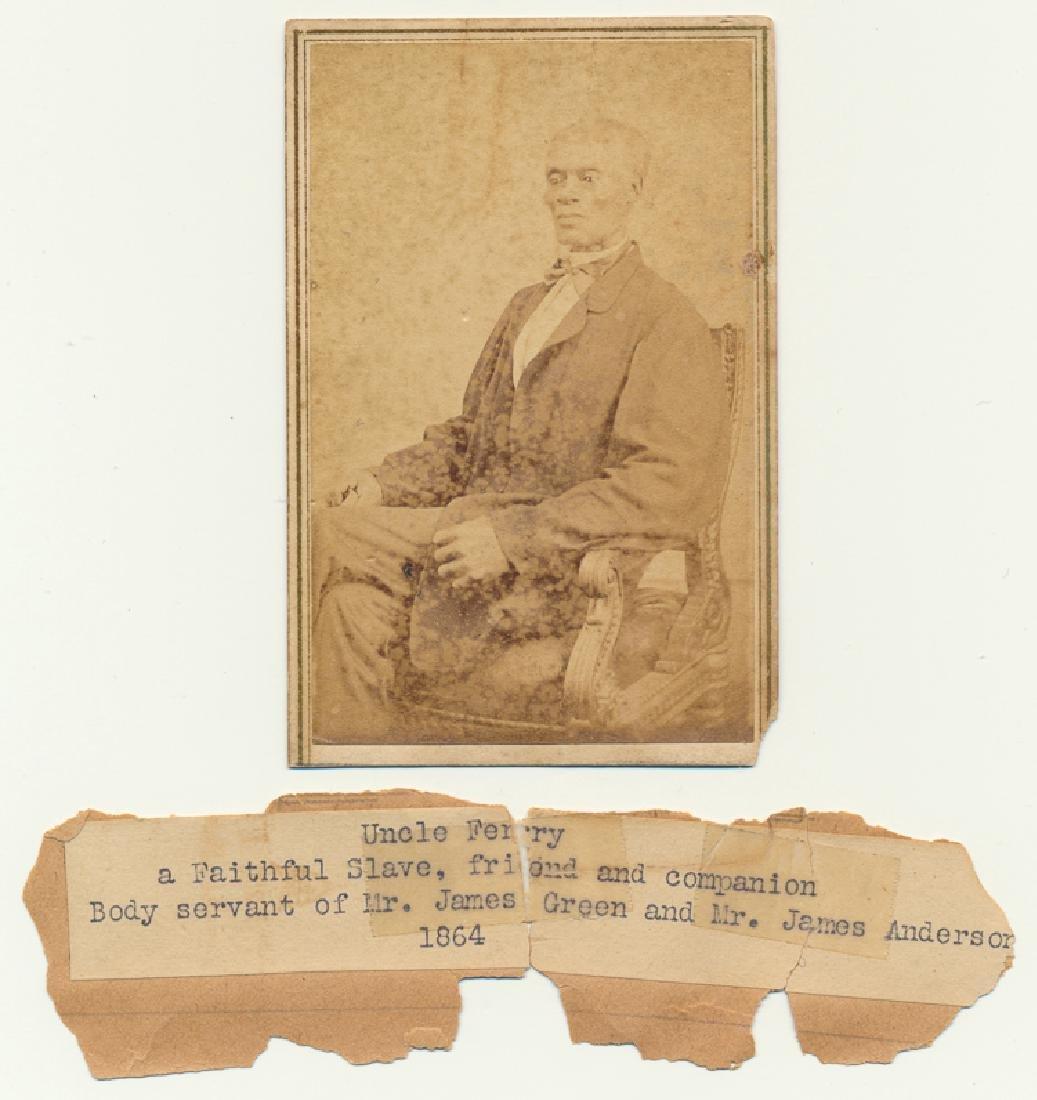 CARTE DE VISITE PHOTOGRAPH OF A SLAVE