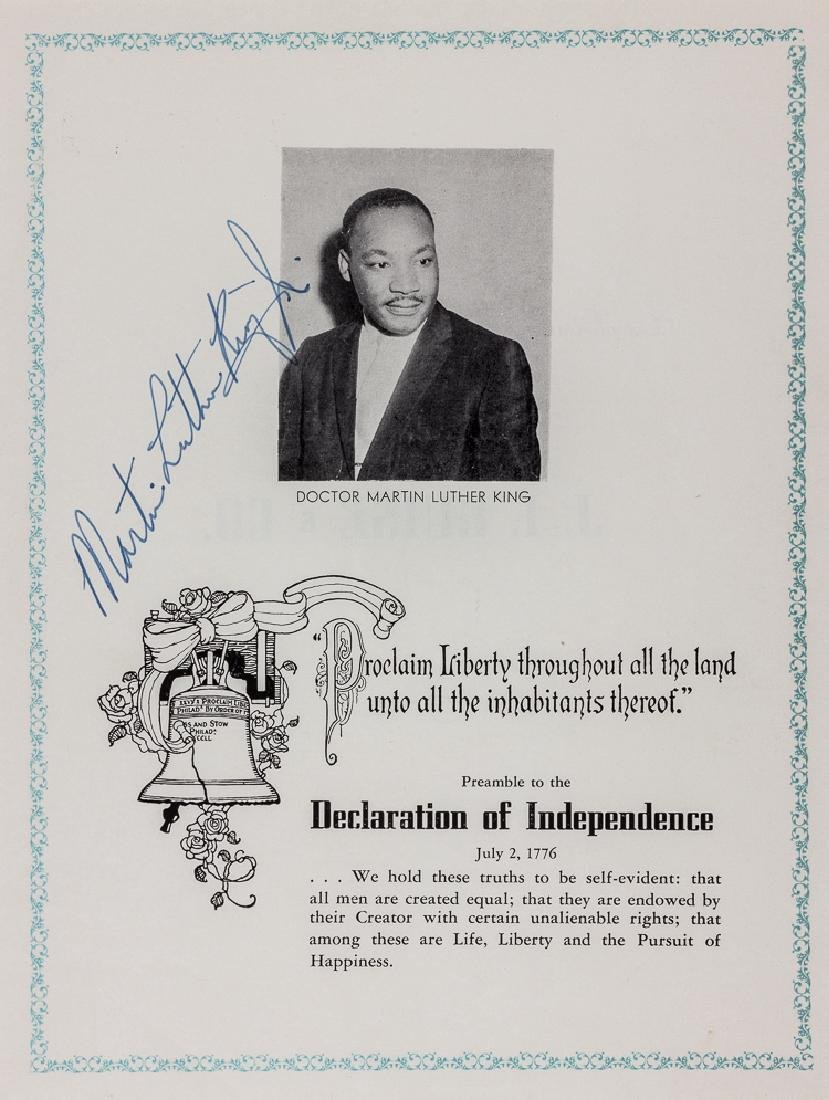 REV. MARTIN LUTHER KING, JR. SIGNS THE PREAMBLE TO THE