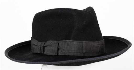 6ca7f3c71a046 MICHAEL JACKSON S OWNED AND WORN BLACK FEDORA
