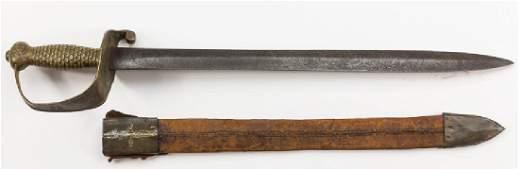 CONFEDERATE MODEL 1841 NAVAL CUTLASS