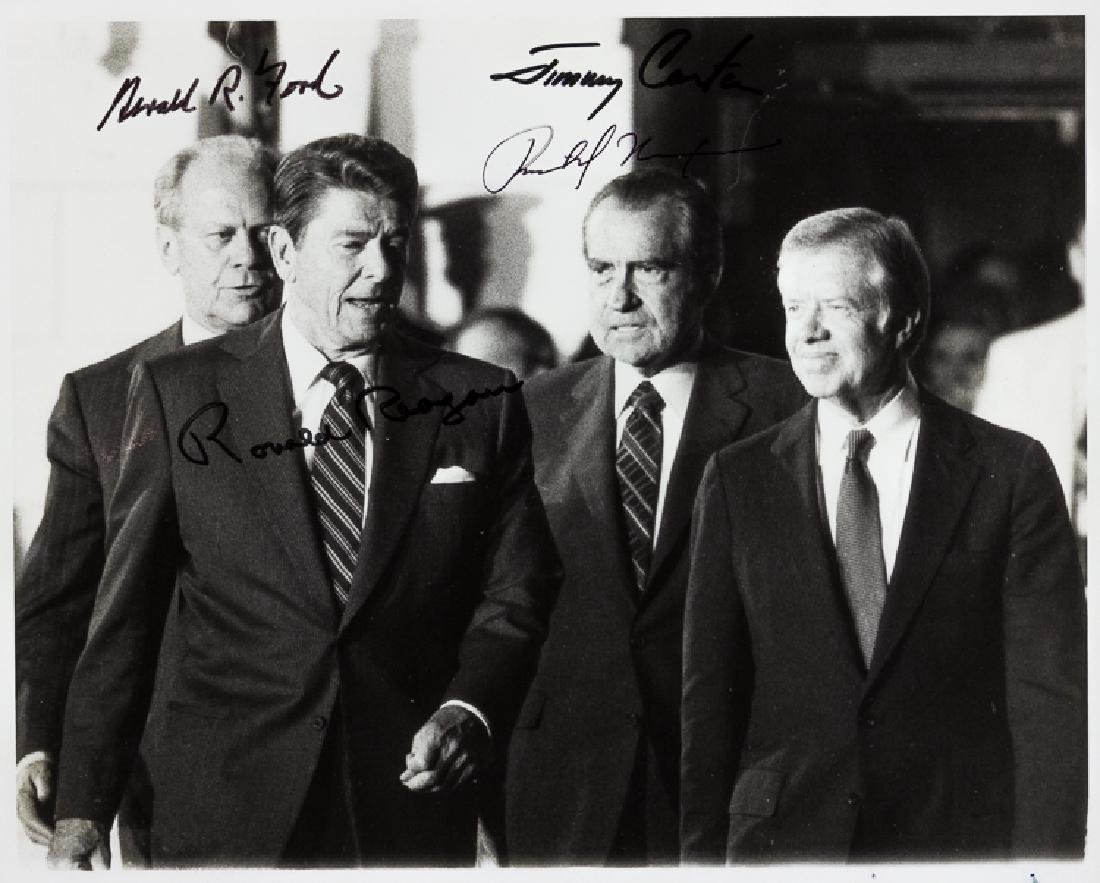 FOUR PRESIDENTS SIGNED PHOTOGRAPH