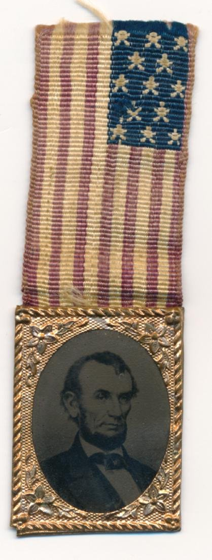 LINCOLN 1864 POLITICAL LAPEL PIN