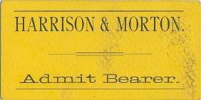 HARRISON AND MORTON ELECTION SPEECH TICKET