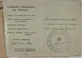 "CUBAN ALBUM MEMORIALIZES THE CUBAN ""GRANMA"" EXPEDITION"