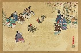 """ANCIENT CUSTOMS OF JAPAN"" WOODBLOCK PRINTS BY UCHIDA"
