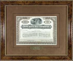 U.S. STEEL STOCK CERTIFICATE