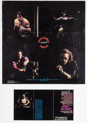 HELLS ANGELS 1985 LIMELIGHT BENEFIT POSTER AND PROGRAM