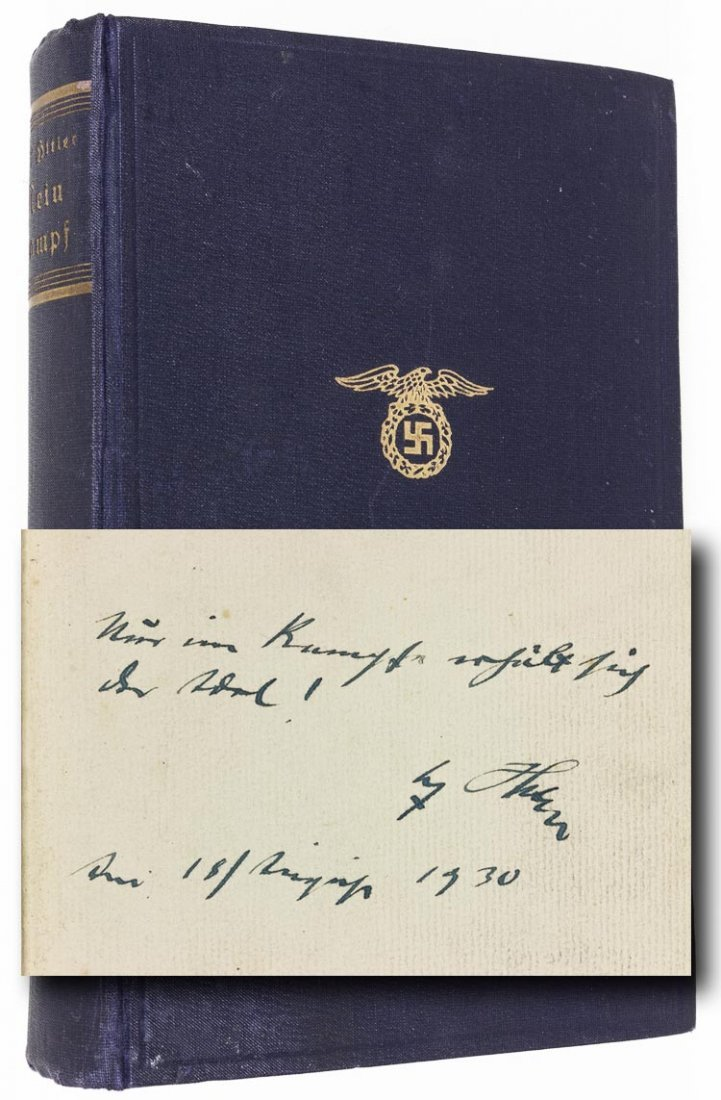 """ADOLF HITLER SIGNED COPY OF """"MEIN KAMPF"""""""