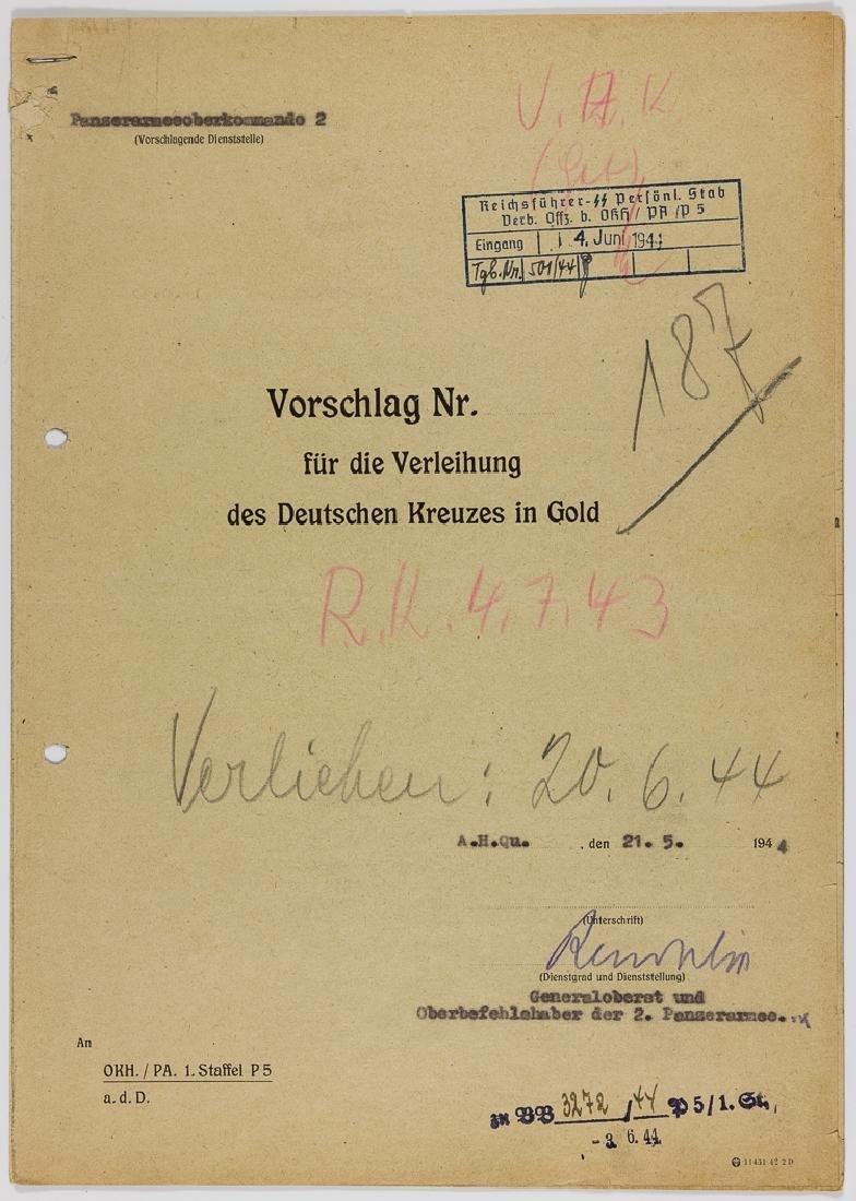 GERMAN CROSS RECOMMENDATION FOR ARTUR PHLEPS