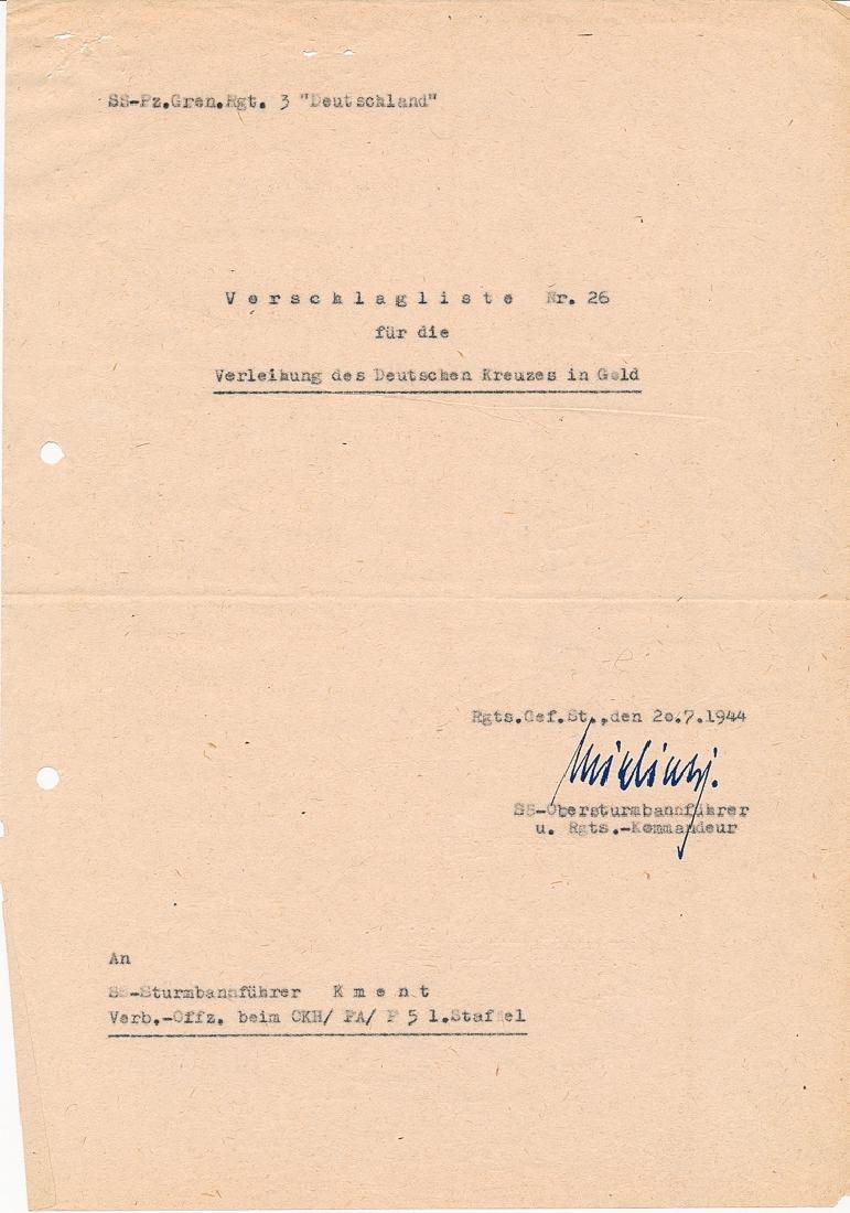 GERMAN CROSS RECOMMENDATION FOR HEINZ MACHER