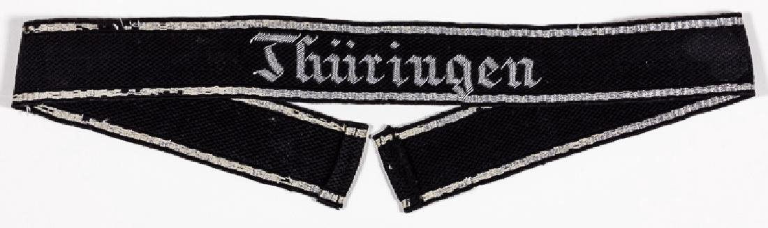 """SS """"THURINGEN"""" DIVISION CUFF TITLE"""