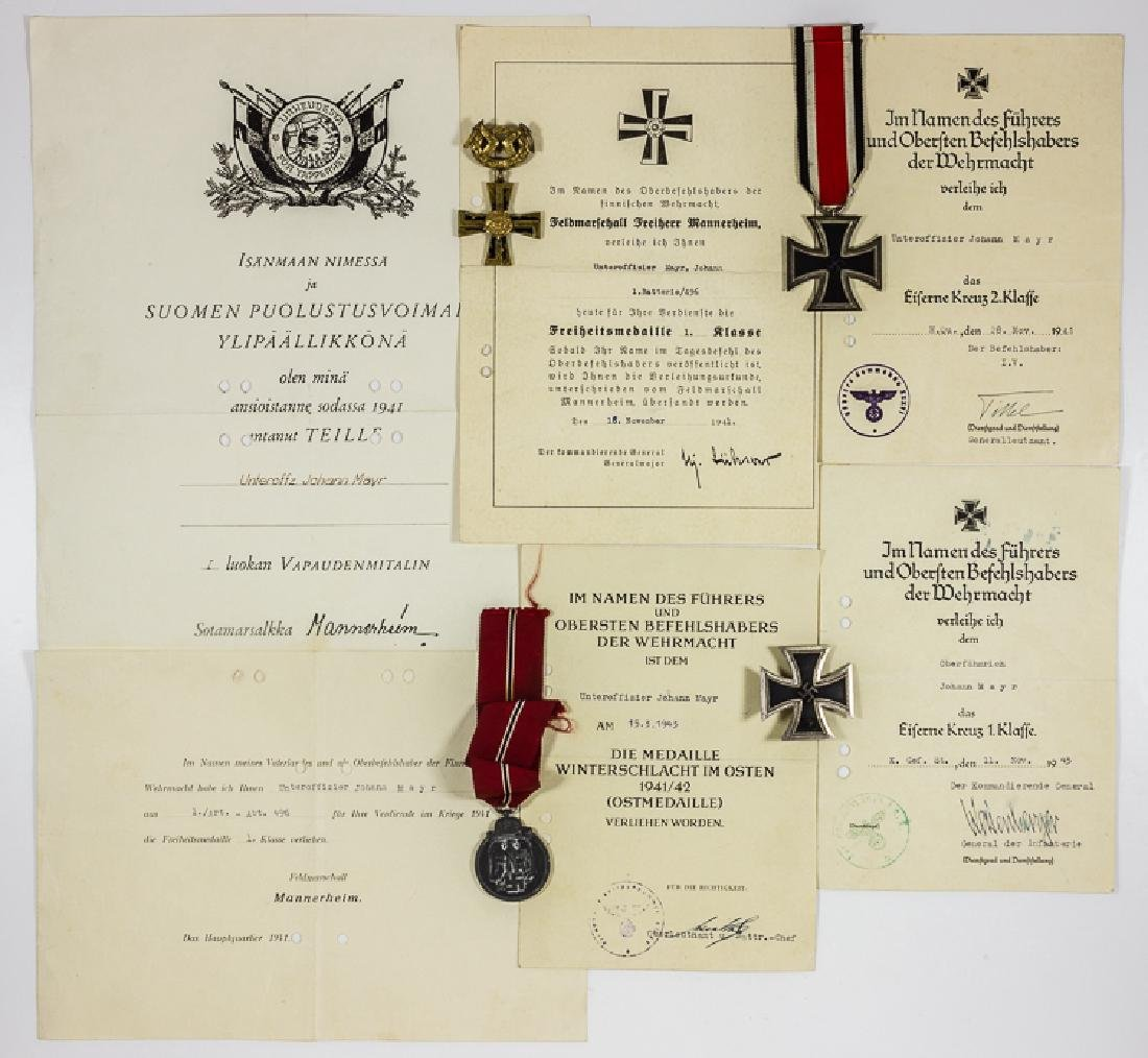 XXXV1 MOUNTAIN CORPS SOLDIER'S MEDAL AND AWARD GROUPING