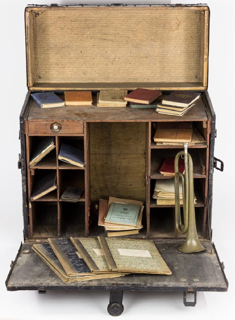 QUARTERMASTER'S TRAVELLING DESK AND REFERENCE LIBRARY
