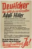 ADOLF HITLER ELECTION POSTER