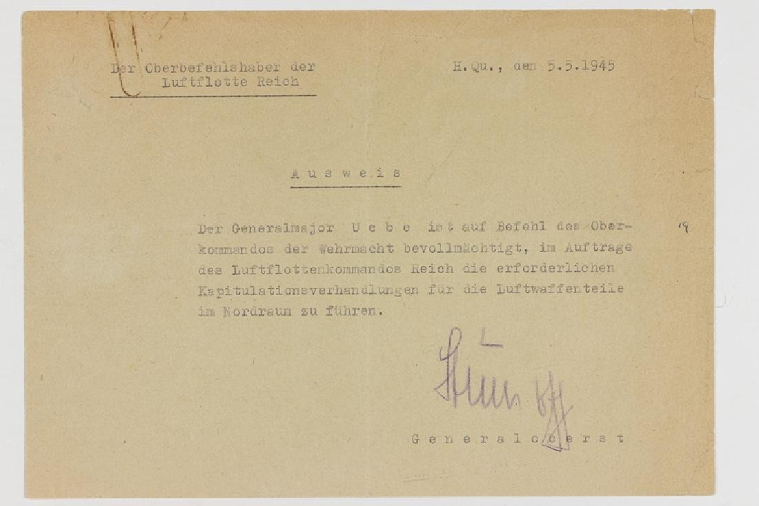 THE SURRENDER OF LUFTWAFFE FORCES IN NORTHERN GERMANY