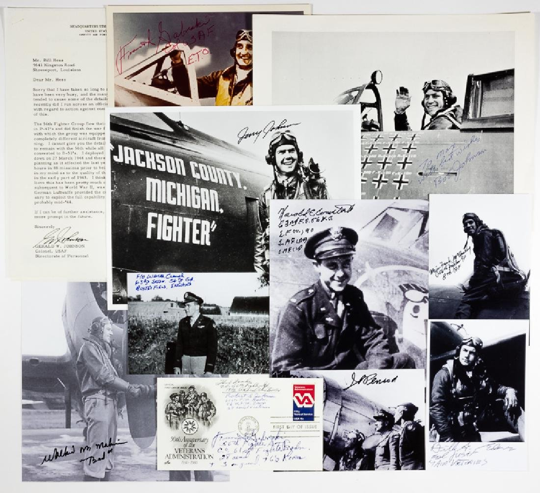 (ZEMKE'S WOLF PACK) 56TH FIGHTER GROUP SIGNATURE