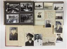 WEHRPASS PHOTO AND LETTER GROUPING OF KIA UBOAT