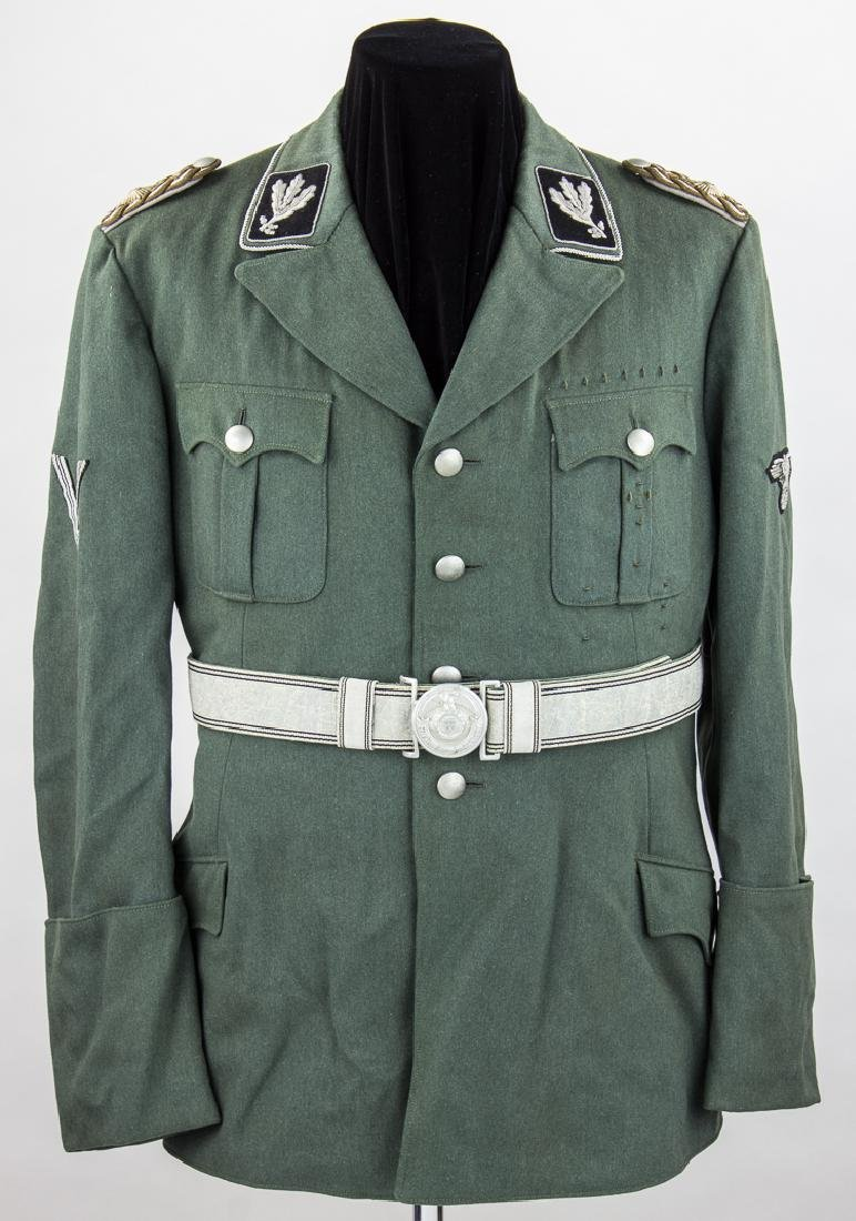 SS UNIFORM OF HANS BAUR, HITLER'S PERSONAL PILOT