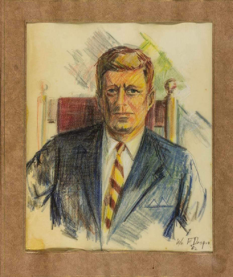 ORIGINAL PORTRAIT OF JOHN F. KENNEDY BY WILLIAM