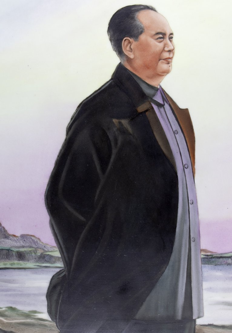 PAINTING OF MAO AT THE SEASIDE FROM JINGDEZHEN - 3