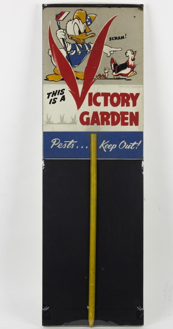 DONALD DUCK VICTORY GARDEN SIGN