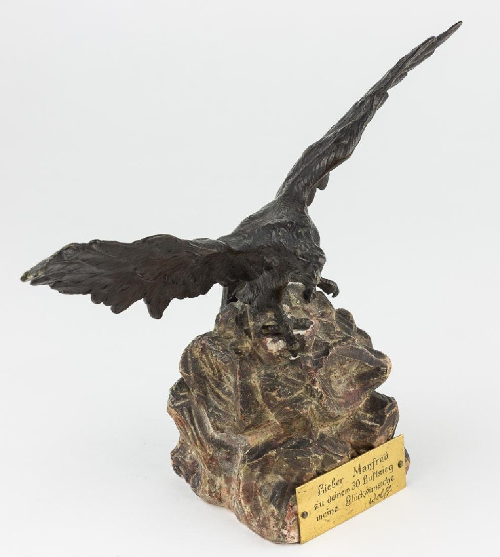 EAGLE TROPHY PRESENTED TO MANFRED VON RICHTHOFEN - 3