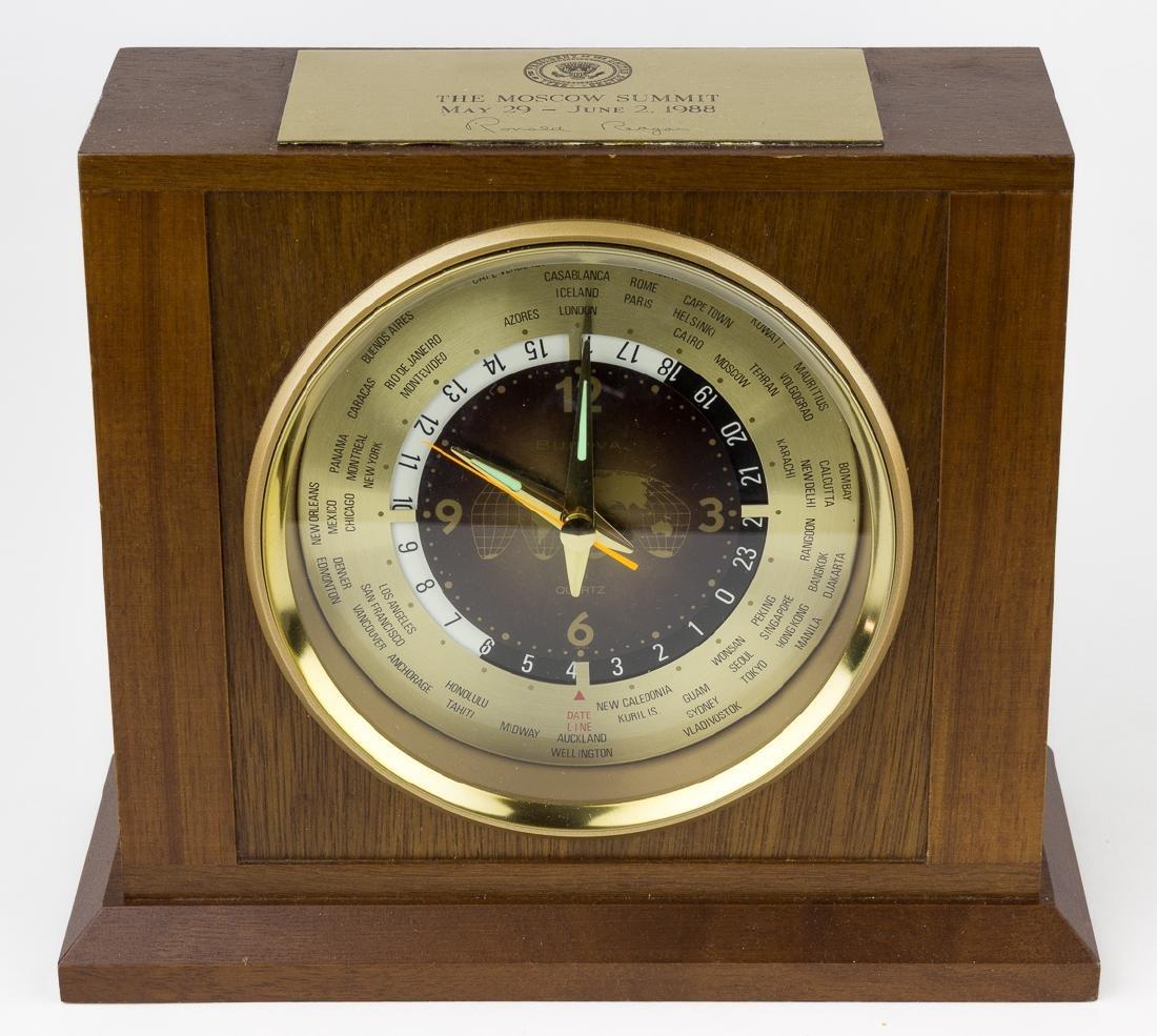 RONALD REAGAN 1988 MOSCOW SUMMIT WORLD TIME CLOCK