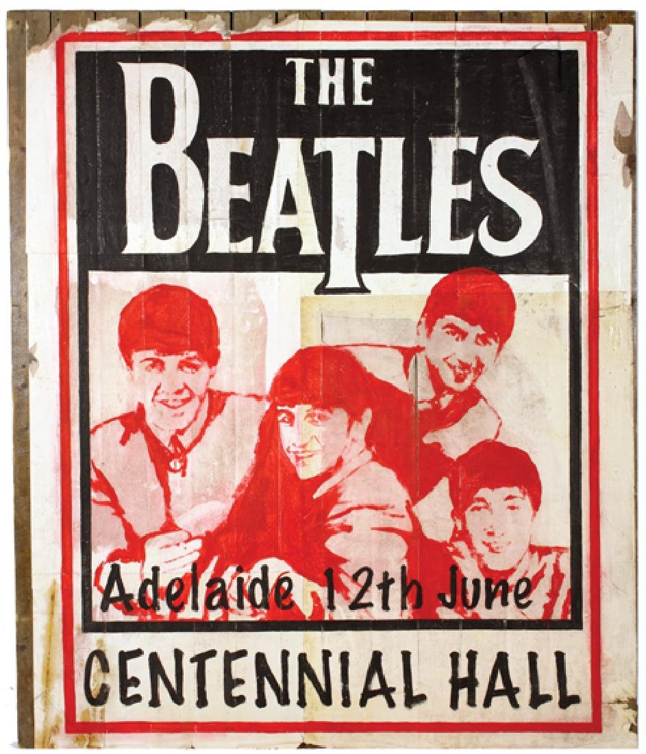 THE ONLY EXISTING POSTER FROM THE BEATLES 1964