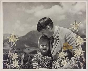 ADOLF HITLER INSCRIBES A PHOTO TO ROSA BERNILE NIENAU