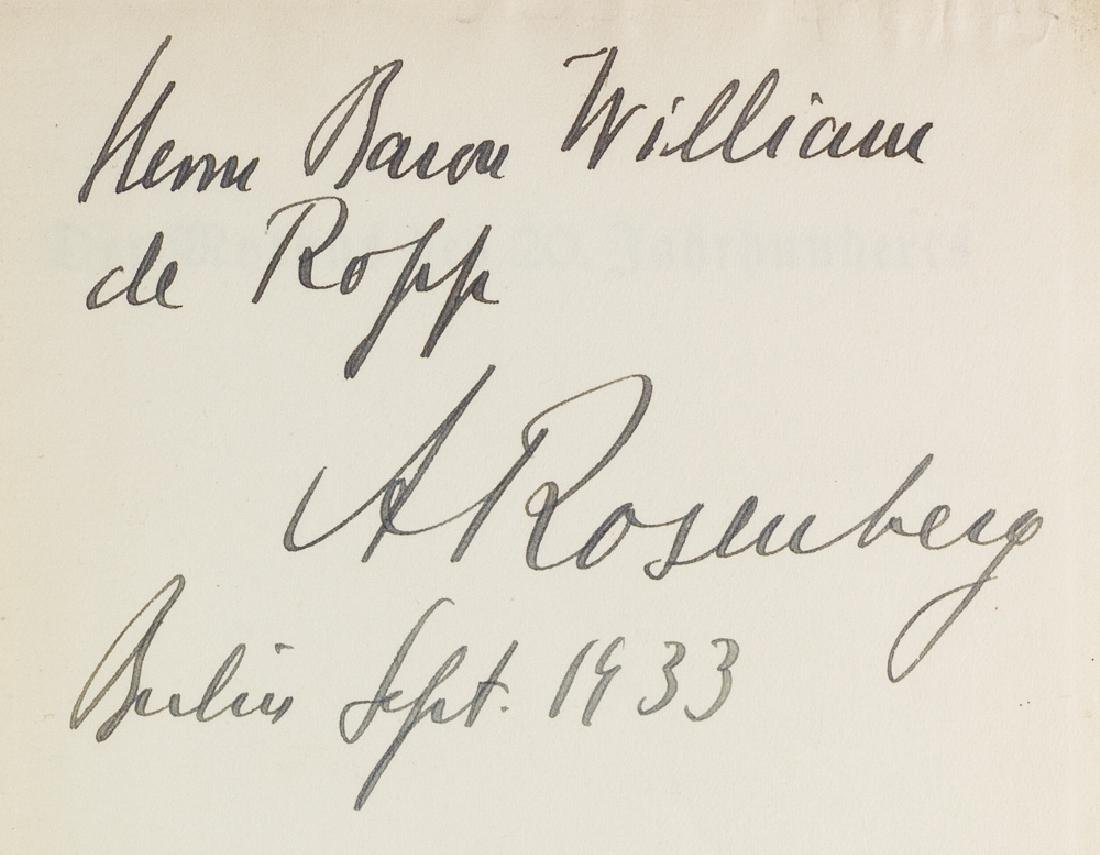 ALFRED ROSENBERG INSCRIBES A BOOK...TO A BRITISH SPY!