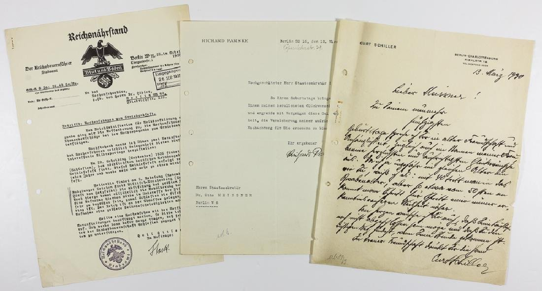 NAZI GOVERNMENT LETTERS AND EPHEMERA