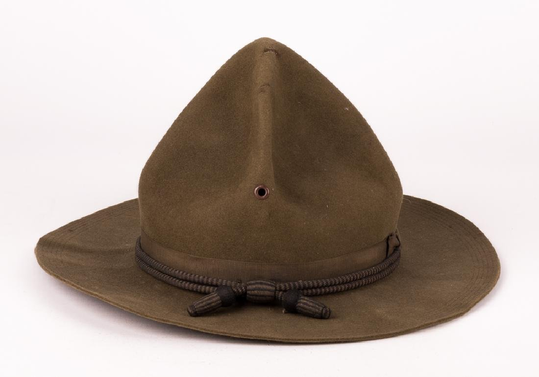 8d84dccd5 NAMED U.S. ARMY OFFICER'S CAMPAIGN HAT BY STETSON