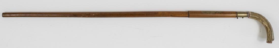 DUMONTHIER-STYLE CANE GUN WITH STAG GRIP - 2